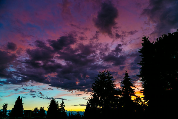 Seattle Sunset from Home (25th of June, 2014)